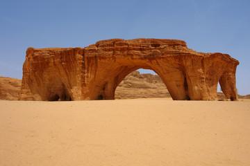Five arch rock, Ennedi region, Tchad
