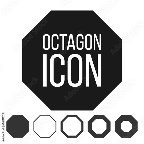 Octagon icon vector 8 eight sided symbol geometry chart octagonal octagon icon vector 8 eight sided symbol geometry chart octagonal diagram sign ccuart Images
