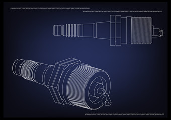 3d model of the spark plug