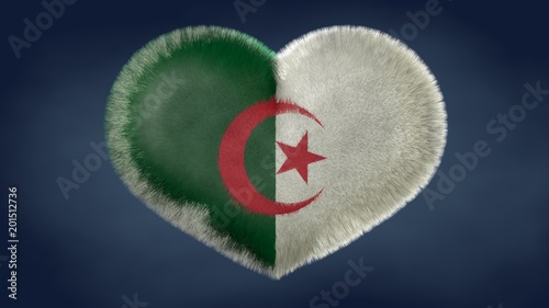 Cuore Bandiera Dellalgeria Stock Photo And Royalty Free Images On