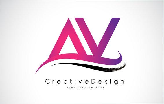 AV Letter Logo Design. Creative Icon Modern Letters Vector Logo.