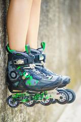 Roller skates close up