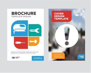 exclamation brochure flyer design template