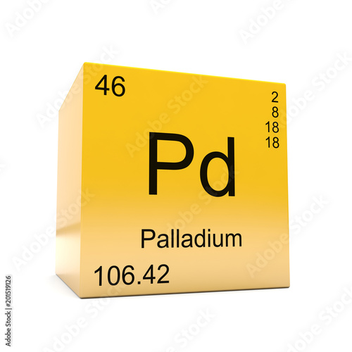 Palladium Chemical Element Symbol From The Periodic Table Displayed