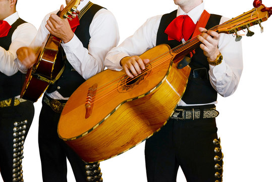 Mariachi Musician Isolated on White Background