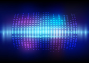 Abstract digital sound wave and music beats background with light effect that can used for business presentation.