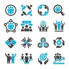 teamwork,partnership icon set