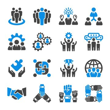 teamwork,partnership icon set