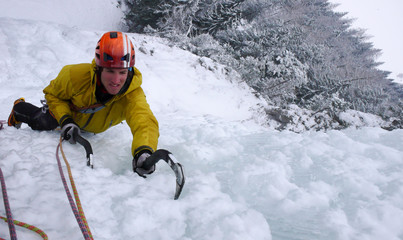 ice climbing in Switzerland