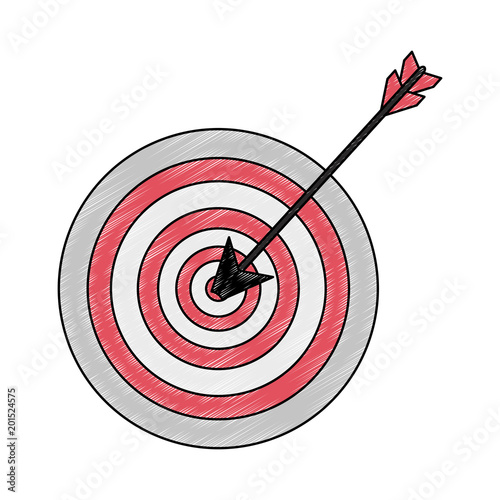 Target Dartboard Symbol Vector Illustration Graphic Design Stock