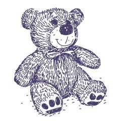 Teddy Bear vector drawing