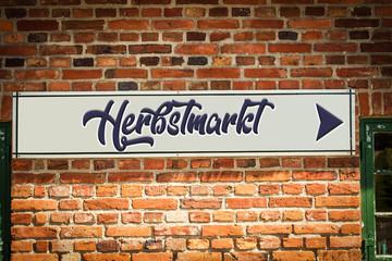 Schild 318 - Herbstmarkt