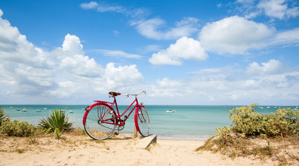 Tuinposter Eiland l'Île de Ré à vélo > France