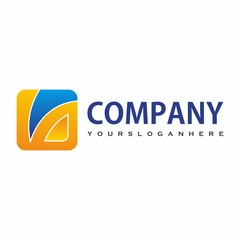 square logo design for company or group