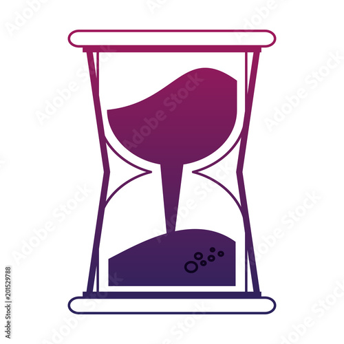 quothourglass with sand vector illustration graphic design