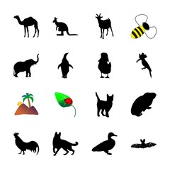 icon Animal with duck, honeybee, vampire, young and mouse