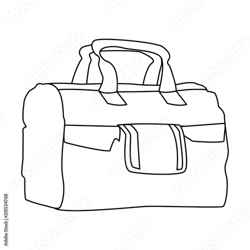 Sport bag isolated vector illustration graphic design