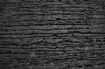 Surface material with cracks in the black sheet.
