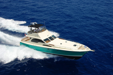 Sport Fishing Yacht Aerial