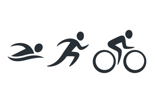 Triathlon activity icons