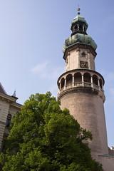 Foto op Textielframe Artistiek mon. The Fire Tower in Sopron in Hungary