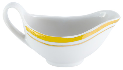 gravy boat isolated white