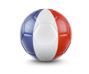High qualitiy soccer ball with the flag of French Guiana rendering.(series)