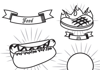Outlined Fast Food Icons