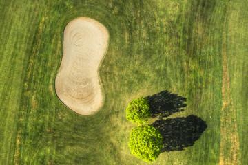 Fototapeta Golf field view from above