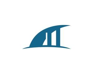 bridge logo vector ilustration