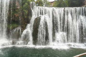 Amazing waterfall. Travel concept