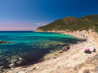 Wall Mural - One of the marvelous and uncontaminated beaches of the island of Sardinia.