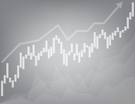 stock business chart line background . graph vector