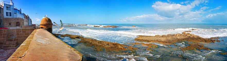 Panoramic view from Skala de la Ville in Essaouira