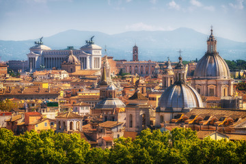 Photo sur Aluminium Rome Rome, Italy Skyline in Panoramic View