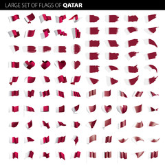 Qatar flag, vector illustration