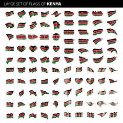 Kenya flag, vector illustration