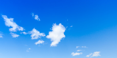 Fototapeta Blue sky with white clouds, background photo