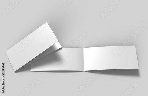 Landscape brochure blank white template for mock up and presentation ...