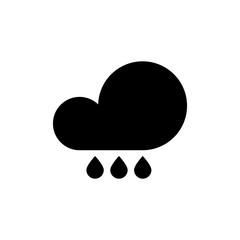 Cloud with rain icon