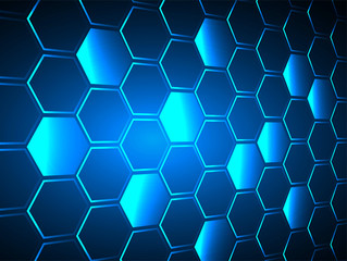 blue Hexagon grid background