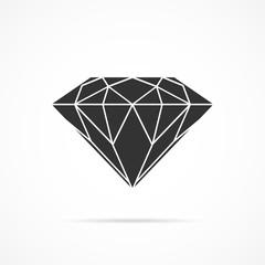 Vector image of diamond icon.