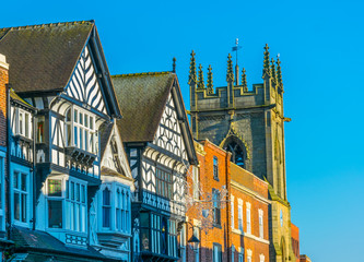 Traditional wooden houses in Chester, England Fotomurales