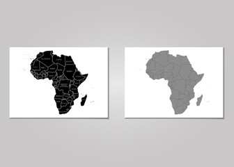 Territory of Africa. Vector Illustration