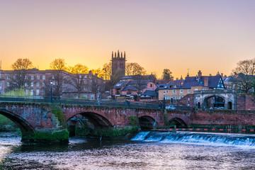 Fototapeta Old Dee bridge in Chester, England obraz