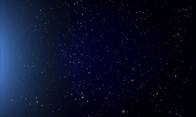 abstract dark blue night starry sky