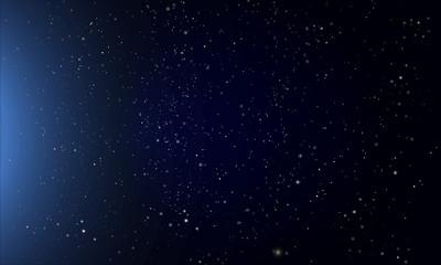 abstract dark blue night starry sky
