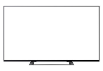 TV isolated with blank, empty screen