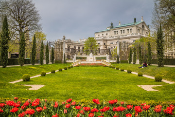 Frühling im Wiener Volksgarten