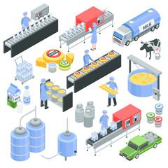 Dairy Factory Isometric Set